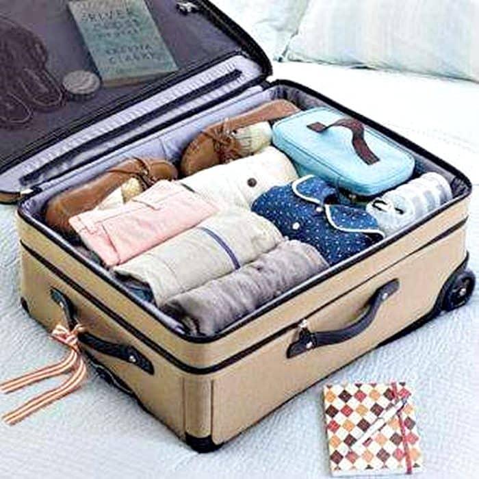 как правильно упаковывать чемодан