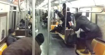 крыса в метро